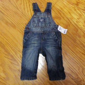 Infant insulated jean cover all's NWT. 3 months